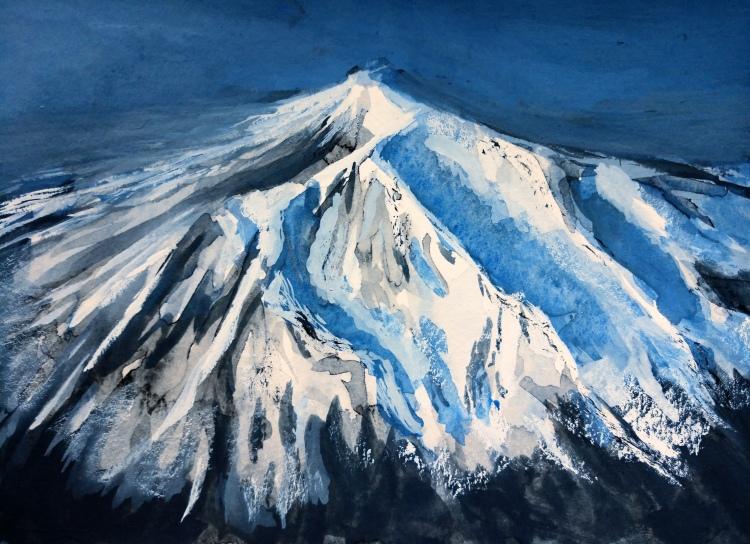 """Mt. Shasta - 5x7"""" - $50"""