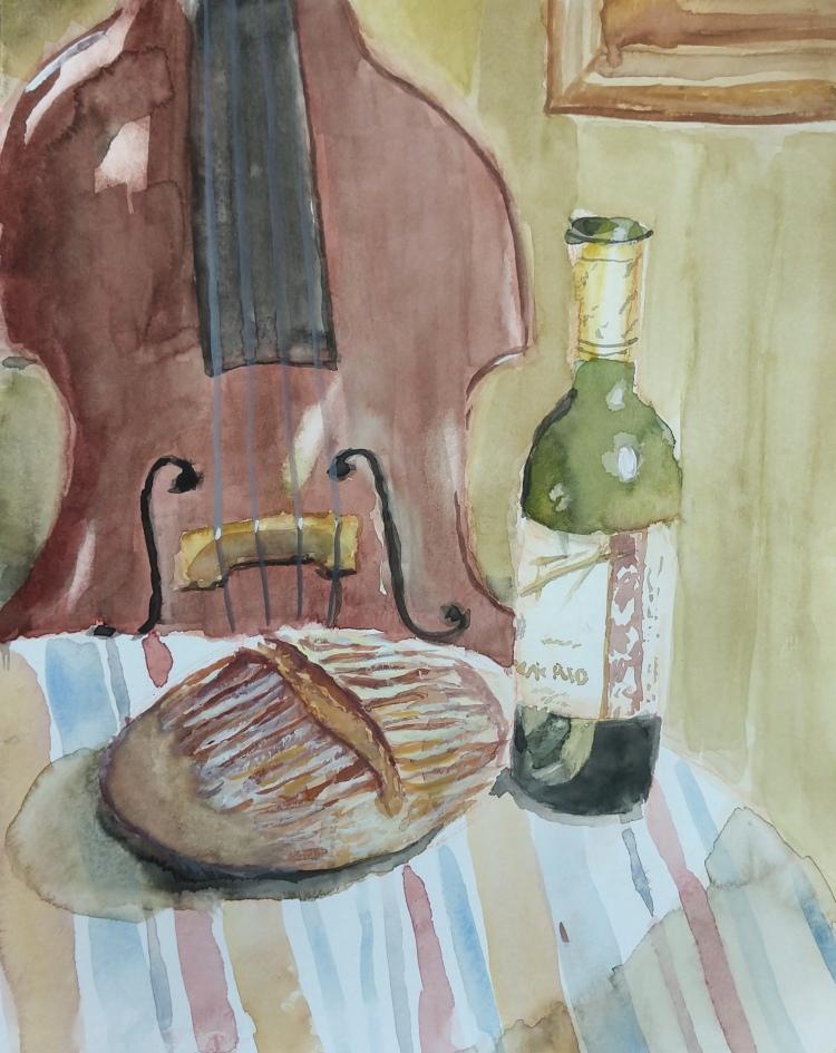 Bread Still Life - 8.5x11 - Sold