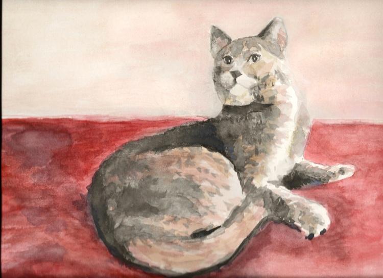 """My Cat Cleo - 16x20"""" - NFS"""