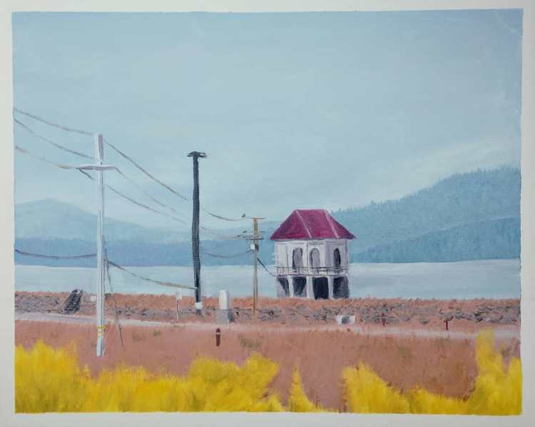 """Lake Almanor Structure - 16x20"""" - Sold"""