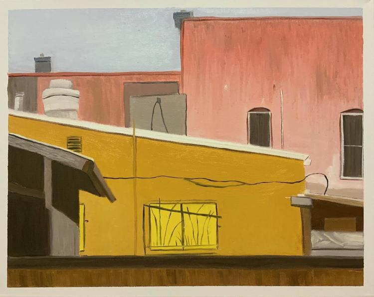 "Back of Upper Crust, Downtown Chico - 16x20"" - $100"