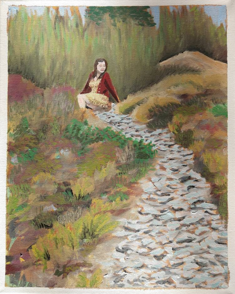 """Ginger on a rock path - 16x20"""" NFS"""