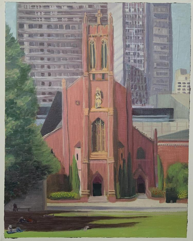 "St. Patrick's Cathedral SF - 16x20"" - $150"