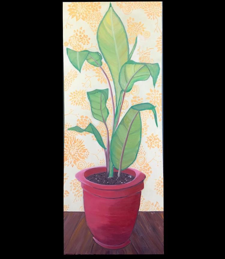 "House Plant II - 45x18"" - $200"