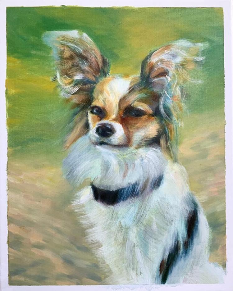 """Dog Commission 16x20"""""""