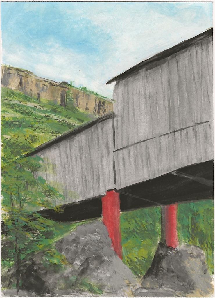 "Honey Run Bridge - 5x7"" - Sold"