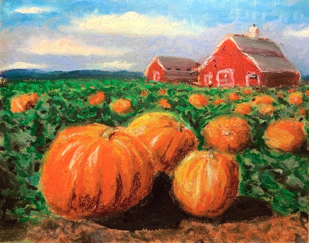 Pumpkin Patch - 7x9ish - $30